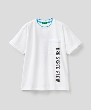 スケータープリントポケットTシャツ・カットソー