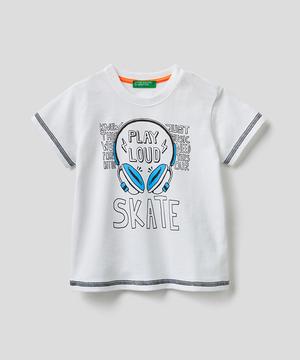 カラーステッチプリントTシャツ・カットソー