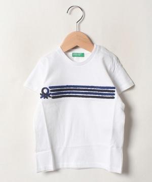 サガラ刺繍ロゴTシャツ・カットソー
