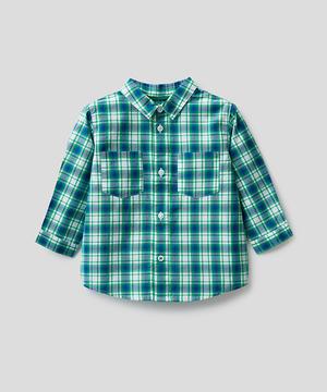 ロゴチェックボックスシャツ