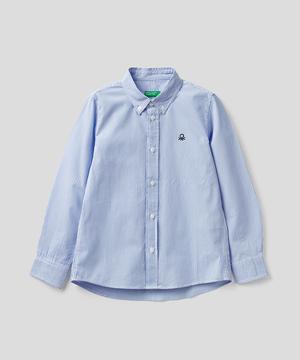 キッズポプリン総柄長袖シャツ