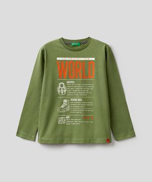 キッズ裾タグプリント長袖Tシャツ・カットソーB