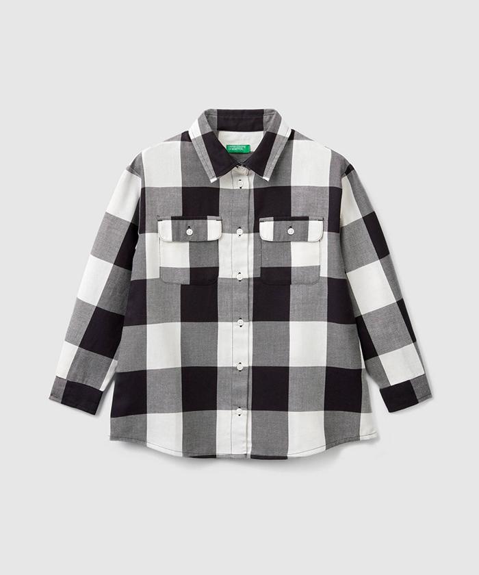 ブロックチェックシャツ・ブラウス