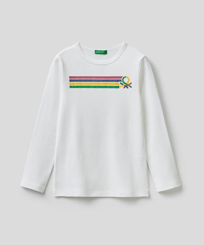 ベーシックグリッターロゴ長袖Tシャツ・カットソー