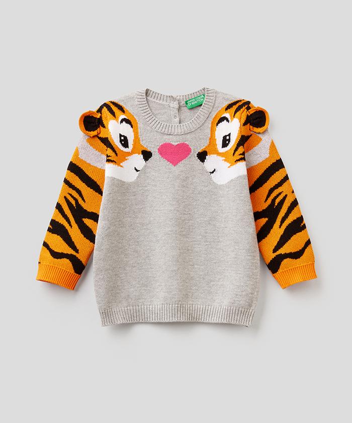 タイガーアームニット・セーター