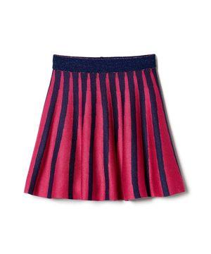 KIDSバイカラーニットスカート