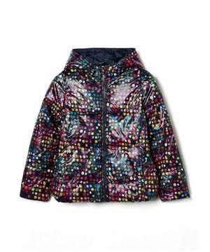 KIDS中綿アートプリントフードジャケット