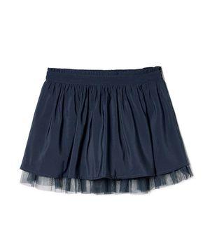 KIDS裾チュールギャザースカート