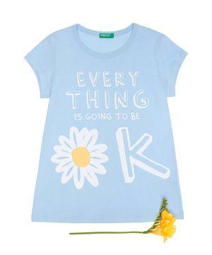 KIDSフラワーメッセージTシャツ・カットソー