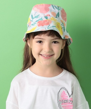 KIDS総柄リボンハット・帽子