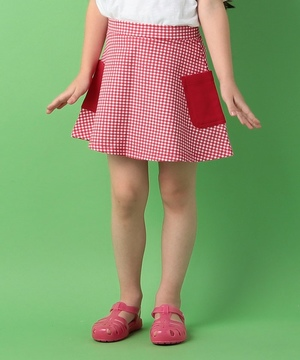 KIDSスウェット柄パッチポケットスカート