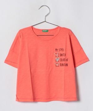 KIDSショート丈ワイドTシャツ・カットソー