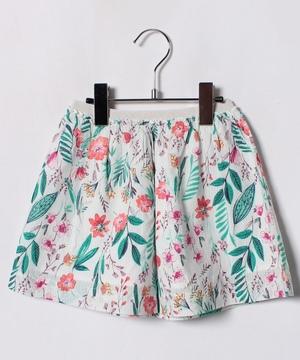 KIDSボタニカル柄スカート