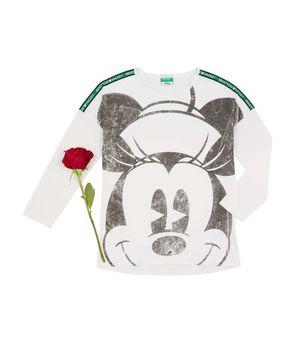 【Disney】コラボ ミニーマウス オーガニックコットン長袖Tシャツ(公式オンライン限定)