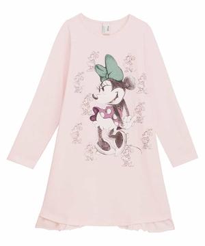 【Disney】コラボ ミニーマウス長袖パジャマドレス(公式オンライン限定)