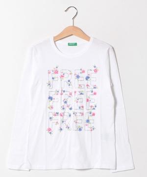 フラワープリント長袖Tシャツ・カットソー
