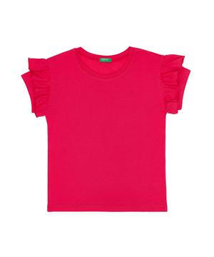 ショルダーフリル半袖Tシャツ・カットソー