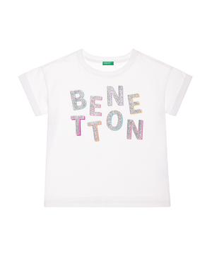 ベネトンロゴワイド半袖Tシャツ・カットソー