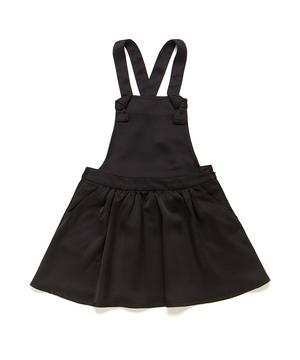 サテンブラックジャンパースカート