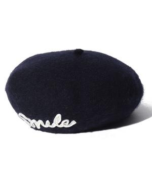 ロゴ入りベレー帽
