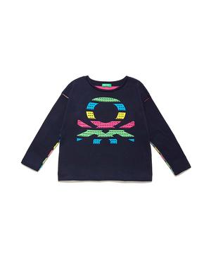 リバーシブルボーダーロゴニット・セーター