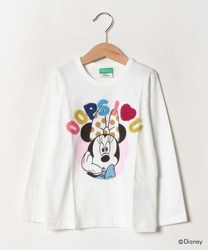 【Disney(ディズニー)コラボ】ミニーマウスサガラ刺繍Tシャツ・カットソー