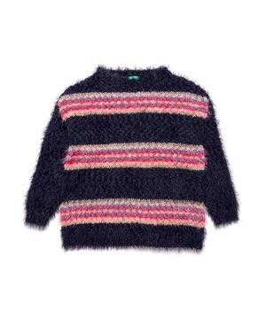 シャギーラメボーダーニット・セーター