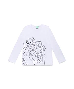 【Disney】コラボ ライオンキングスモノクロプリントTシャツ・カットソー(公式オンライン限定)