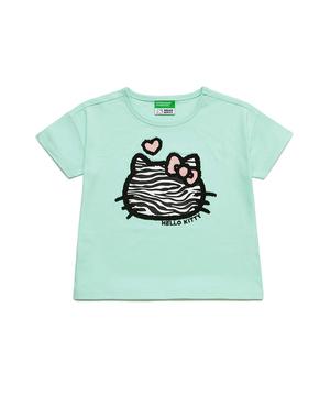 【ハローキティコラボ】キティサガラ刺繍ワイドTシャツ