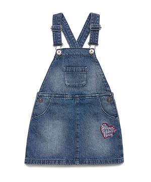 デニム刺繍ジャンパースカート