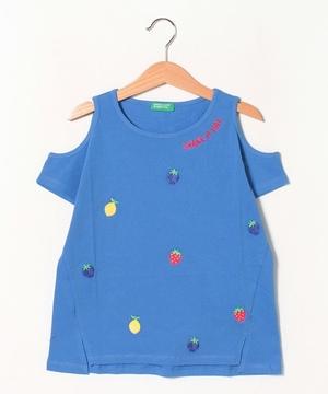オープンショルダーフルーツTシャツ・カットソー