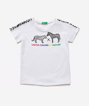 クロスオーバークルーネックアニマルTシャツ・カットソー