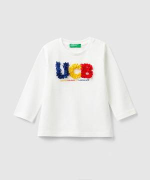 フラワーモチーフロゴTシャツ・カットソー