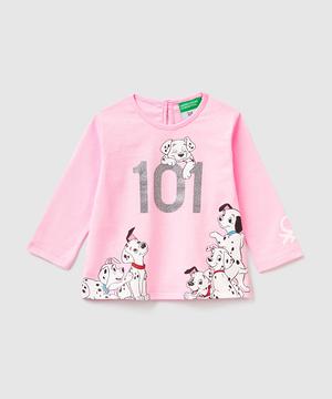 【ディズニー(Disney)コラボ】101匹わんちゃんデザインロゴTシャツ・カットソー