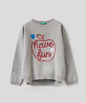 キャビア刺繍ニット・セーター