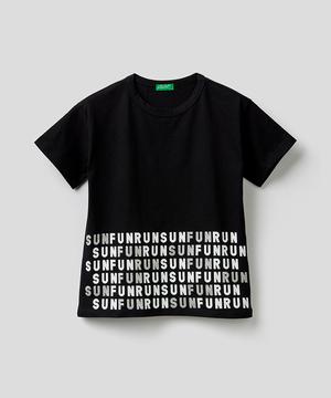 グリッタープリントTシャツ・カットソー