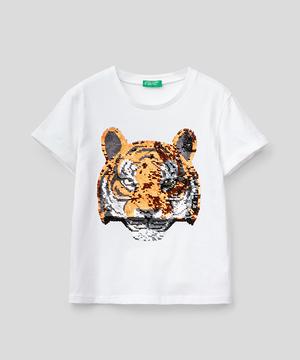 リバーシブルスパンコールタイガーTシャツ・カットソー