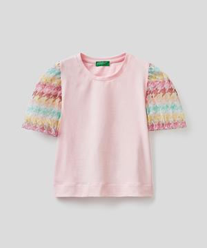 チュールバルーンスリーブTシャツ・カットソー