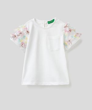 チュールフリルポケットTシャツ・カットソー