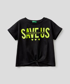 メッセージフロントノットTシャツ・カットソー