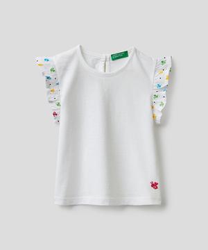 キッズミツバチ刺繍フリルTシャツ・カットソー