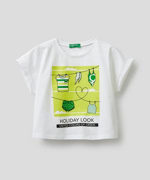 キッズサマープリントクロップドTシャツ・カットソー