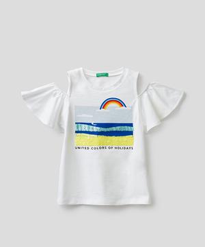 キッズカットオフショルダーTシャツ・カットソー