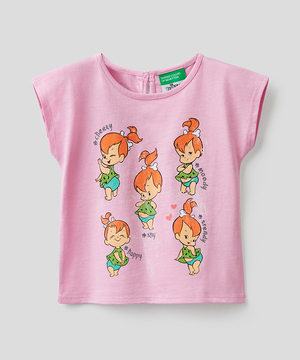 【キャラクターコラボ】キッズフリントストーングリッターTシャツ・カットソー
