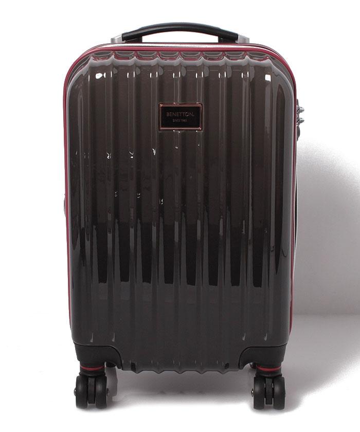 【S】ベネトンジッパー付きキャリーケース・スーツケース機内持込可容量約36LTSAロック