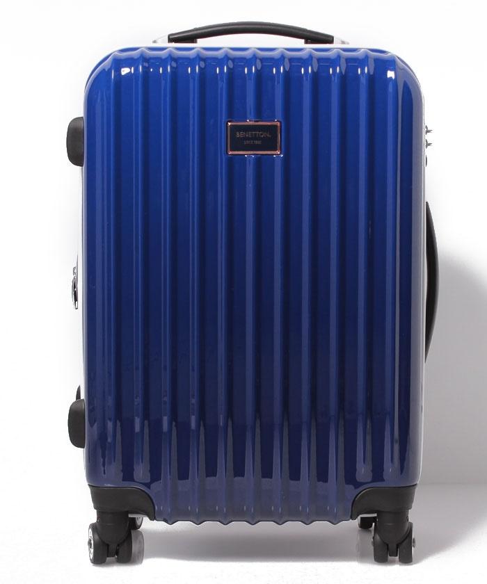 【M】ベネトンジッパー付きキャリーケース・スーツケース容量約49LTSAロック
