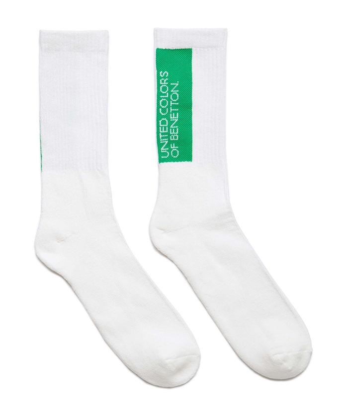 ブランドロゴリブソックス・靴下