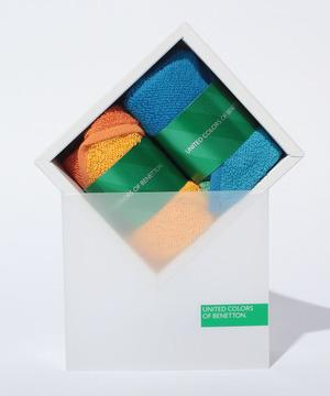 リバーシブルカラータオルハンカチセットBOX6AUN