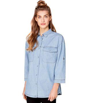 ポケットボックス型デニムシャツ