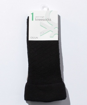 編地デザインハイソックス・靴下